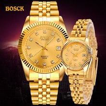 Instaladores moda para parejas pulsera de oro para hombre marca de lujo de las mujeres vestido Reloj de los hombres, relojes Masculinos