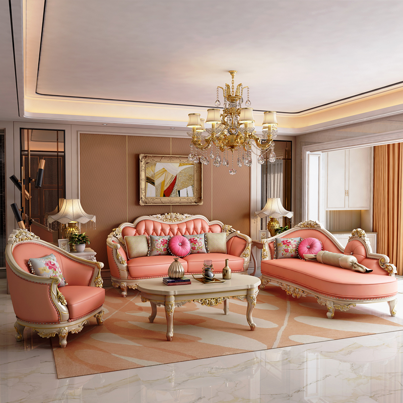 Wholesale living room furniture cheap  leather 1+2+3 sofa set Living Room Sofas     - title=