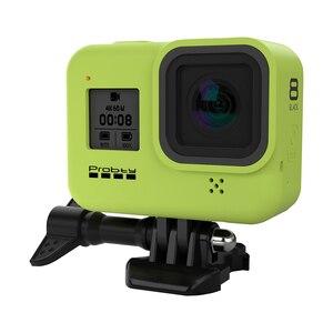 Image 2 - Probty for gopro hero 8 블랙 액세서리 케이스 gopro hero 8 black hero 카메라 용 보호 실리콘 케이스 스킨