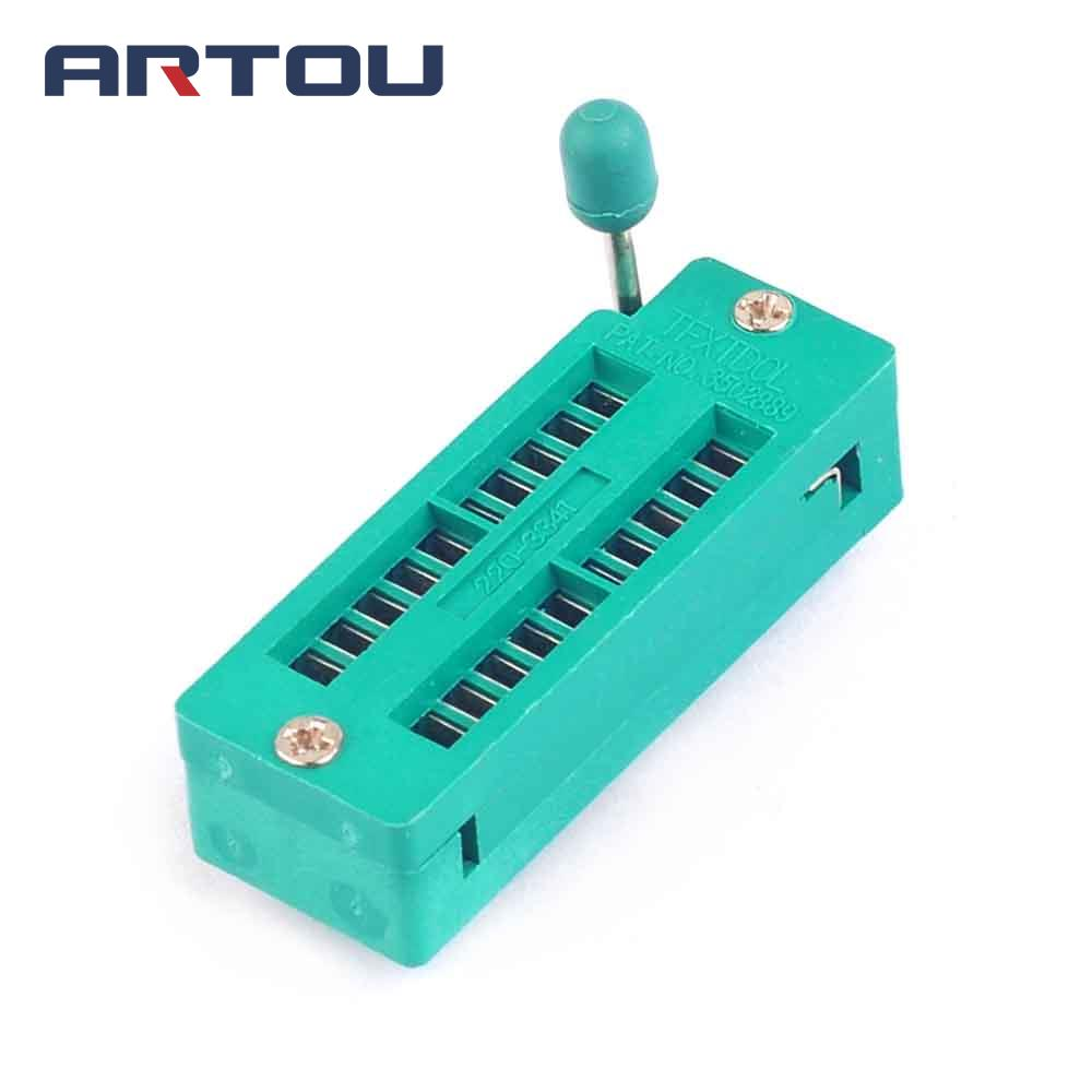 1PCS 20 Pin Universal ZIF Socket For IC Test And Program