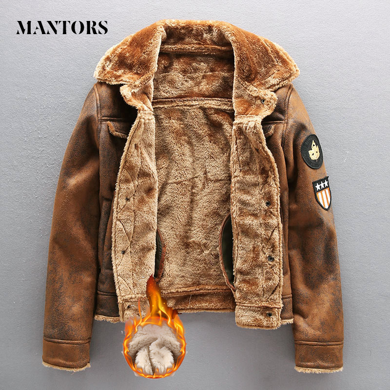 2020 Pu Jacket Men Thick Warm Military Bomber Tactical Leather Jackets Mens Outwear Fleece Fur Windbreaker Coat Male 4XL Clothes|Faux Leather Coats| - AliExpress