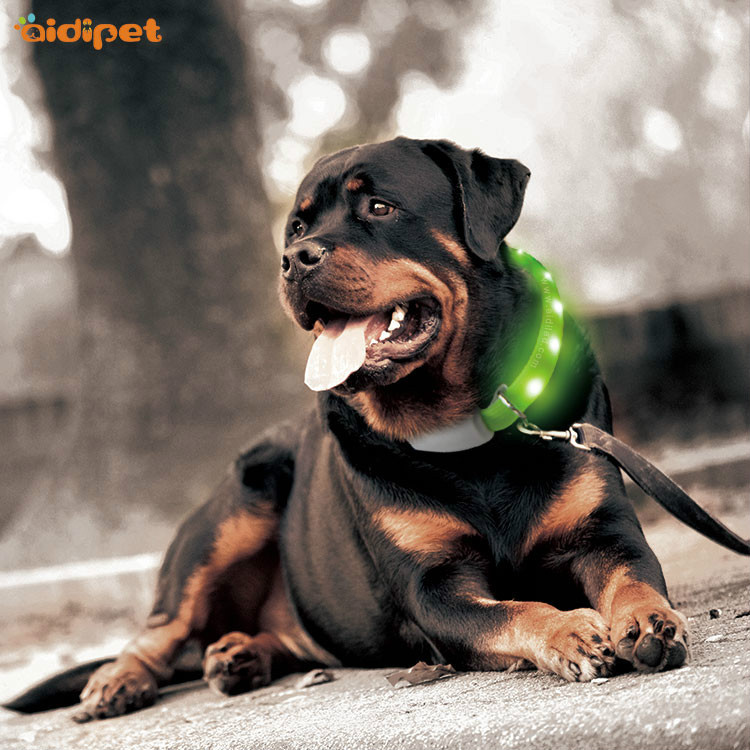 LED Flash Dog Neck Ring USB Charging Multi-functional Colorful Luminous Collar Pet Supplies