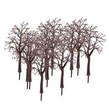 10x tronco nu ramo de árvore modelo 1:75, ramos de árvore para o diorama do parque de trem layout de cena de inverno
