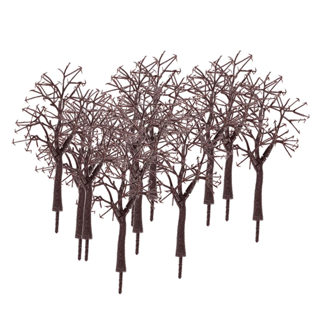 10x tronco nu ramo de árvore modelo 175, ramos de árvore para o diorama do parque de trem layout de cena de inverno