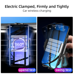 Image 3 - IHaitun seyahat otomatik hızlı kablosuz araç hızlı 10W şarj 4.0 telefon şarj standı istasyonu güç akıllı telefon şarj cihazı Huawei onur