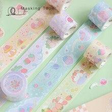 Yisuremia 3M Kawaii Sakura Strawberry Washi Masking Tape Decorative Tape Scrapbook Crafts DIY Sticker Label School Stationery