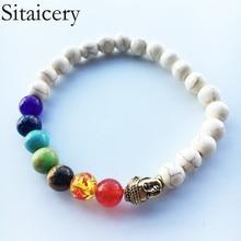 Sitaicery Charm Bracelet New Natural Stone Chakra Beaded Bracelets For Men Women Best Friend Hot Popular Friendship