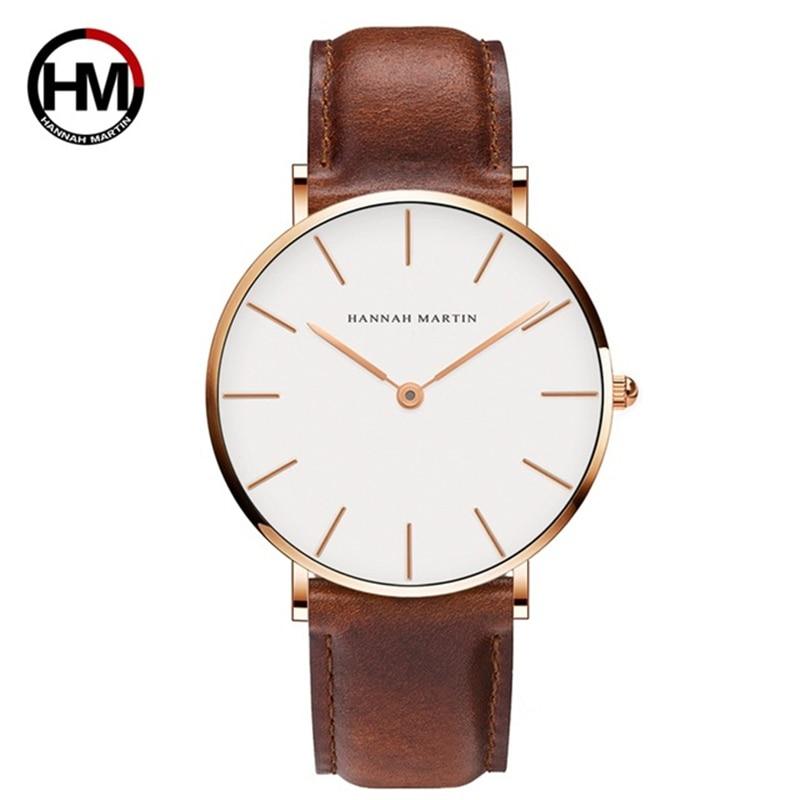High Quality Dropshipping DW Watch Style Watch Men Leather Waterproof Wristwatch Women Dress Fashion Japan Quartz Movement Saat