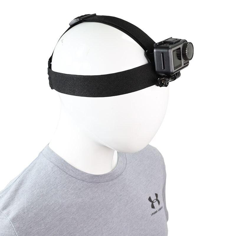 Sangle de tête réglable bandeau support de ceinture pour GoPro Hero 8 7 6 5 4 SJCAM EKEN AKASO Yi 4k DJI Osmo Action caméra accessoires ensemble