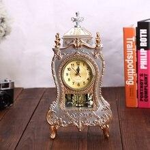 Reloj despertador creativo Reloj clásico reloj Imperial escritorio hogar gabinete decoración sentado péndulo reloj para TV sala de estar