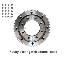 Rotary bearing with external teeth 011.10.100 011.10.120 011.10.150 011.10.180 Small Medium sized Crane Excavator Fittings