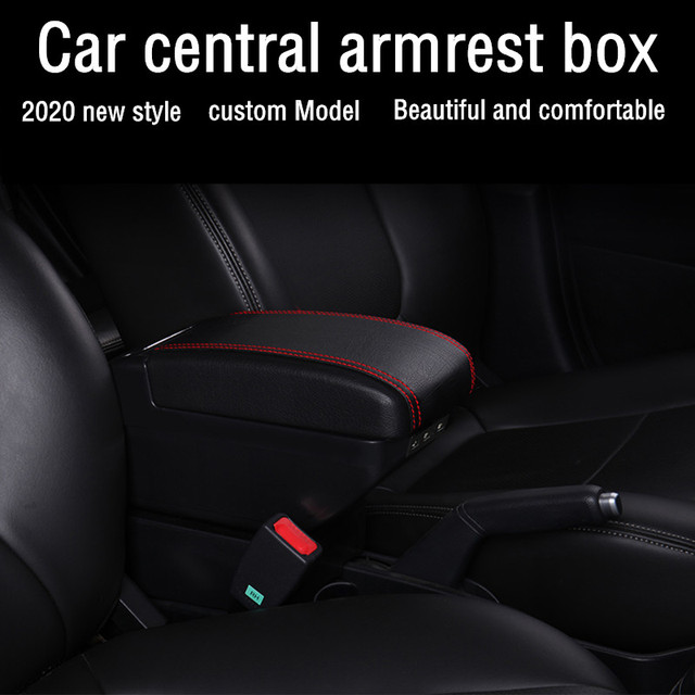 ZPDM Armrest Box Universal Car Center Console Change Accessories Dual Raised With 3 Usb For Suzuki Swift 2005-2020