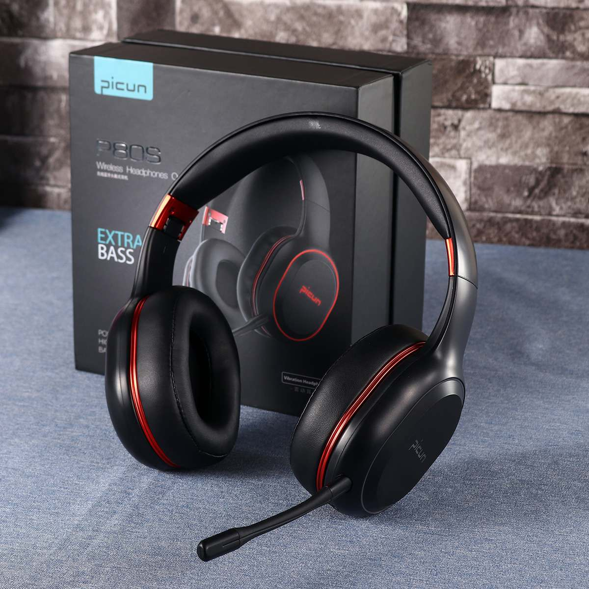 Wireless Bluetooth Over-Ear Headphones Colorful RGB LED Light Foldable Gaming Headset With Mic For Gamer PC Phones