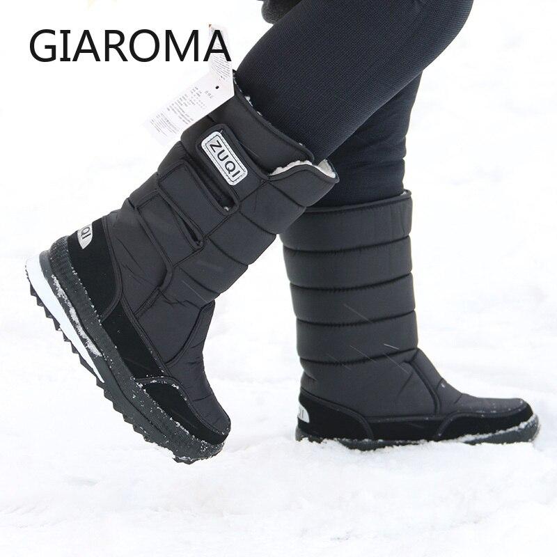 2019 botas homens antiderrapante meados de bezerro botas  masculinas sapatos de neve inverno à prova dwaterproof água gancho loop  design plataforma sapatos bota masculino tamanho 47Botas p/ neve   -