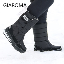 2019 bottes hommes anti dérapant mi mollet bottes mâle hiver neige chaussures imperméable crochet boucle conception plate forme chaussures Bota Masculino taille 47