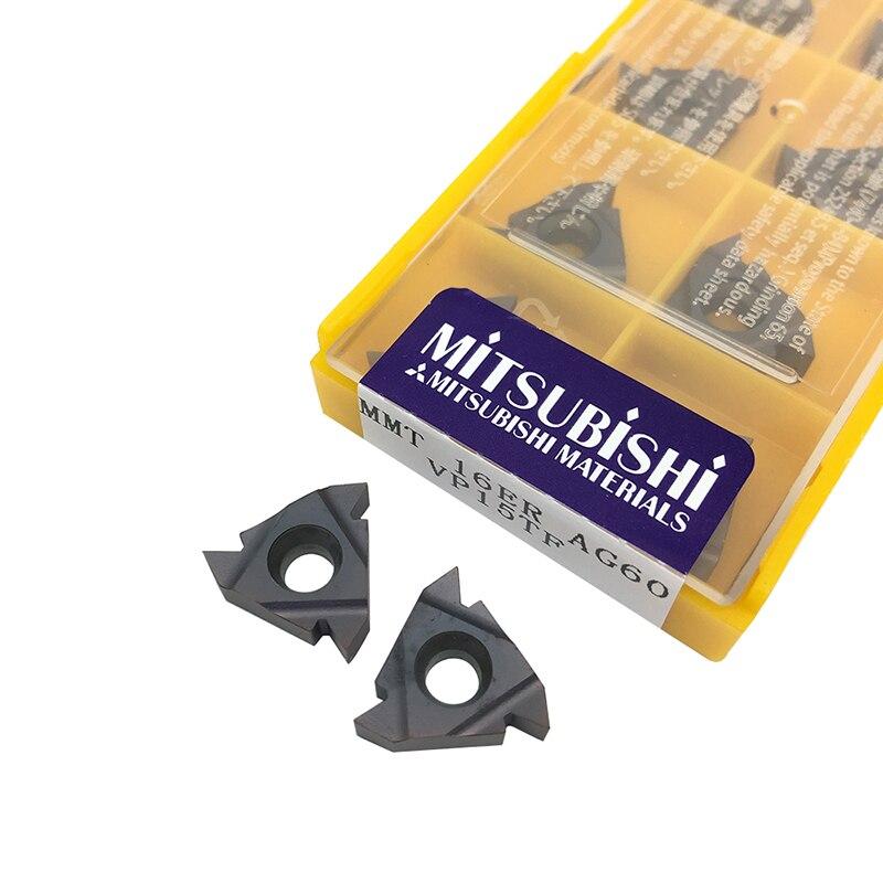 10PCS MMT 16ER AG60 VP15TF External Turning Tools Carbide Insert Lathe Cutter Tool Tokarnyy Turning Insert