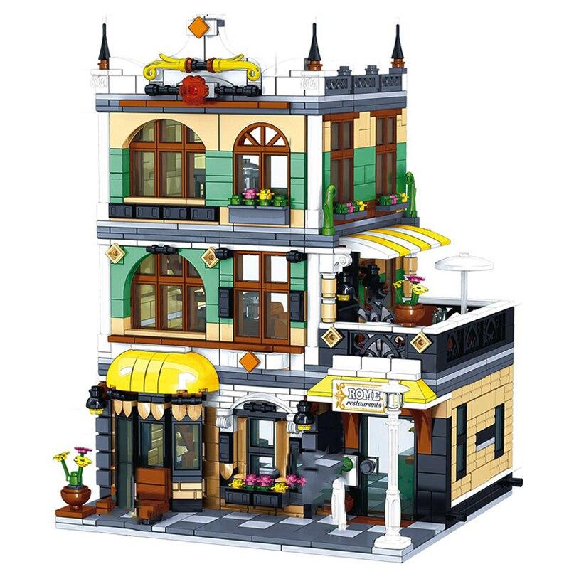 Лего Архитектура строительные блоки создатель эксперт «городская улица» европейских домов в римском стиле магазин ресторан дизайнерские ...
