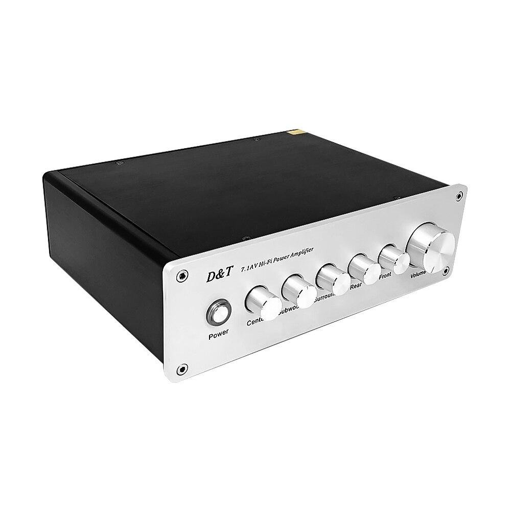 7.1-Channel Power Amplifier 8x20W 8 Channel Digital Amplifiers Subwoofer Amplificador De Audio AMP For DIY Home Sound Theater