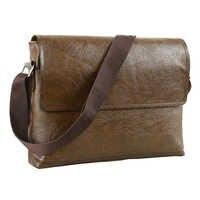 Moda męska torebka mężczyzna PU skórzane torby kurierskie dla człowieka dorywczo biznes torebka vintage na ramię