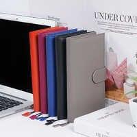 100% capa de couro genuíno para semanas hobo com caneta loop e cartões slots caderno diário diário planejador semanas capa