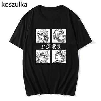 Japońskie Anime My Hero Academia koszulka męska odzież koszulki bawełniane koszulki Harajuku klasyczne Manga Bakugo koszulki graficzne koszulki tanie i dobre opinie CASUAL SHORT CN (pochodzenie) COTTON summer Na co dzień Z okrągłym kołnierzykiem tops Z KRÓTKIM RĘKAWEM Sukno Stałe