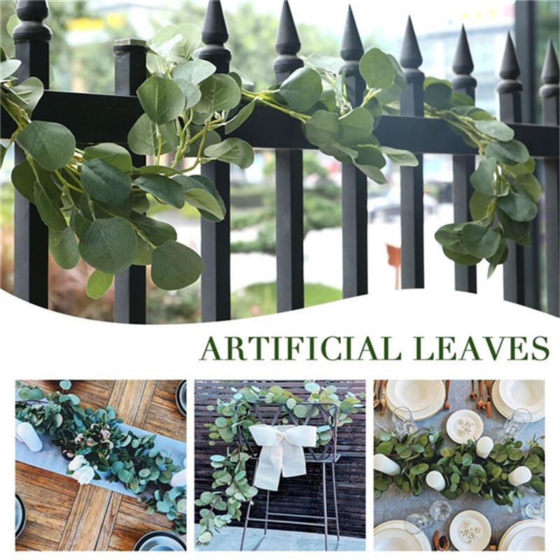 Artificial Eucalyptus Garland Hanging Rattan Greenery Party Festival DIY Decor