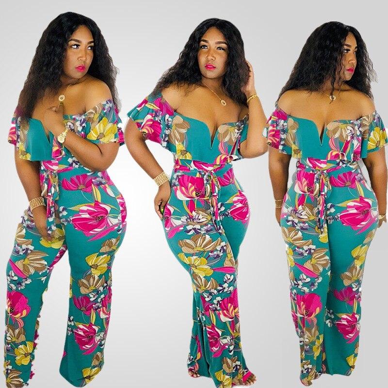 Adogirl  Floral Print Jumpsuit