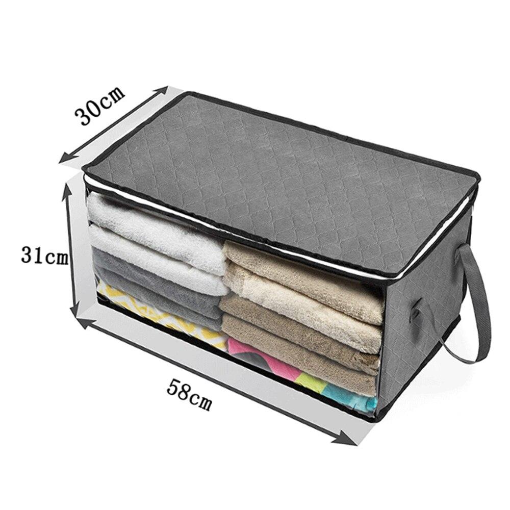 Складной тканевый ящик для хранения грязной одежды, чехол на молнии для игрушек, стеганая коробка для хранения, прозрачный влагостойкий Органайзер - Цвет: G252556B