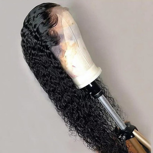 Image 2 - Alibele Malaysian Deep Wave Curly Lace Front Wig 150% Pre Plucked 13x4/4x4 Lace Closure Wigs Short Long Malaysian Human Hair Wig