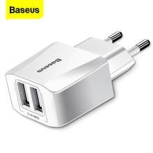 Baseus – chargeur double USB pour iPhone Xs Max X 8 Samsung S10 S9 Xiaomi Mi 9 8, adaptateur ue, charge murale rapide pour téléphone portable
