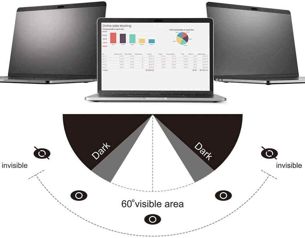 """Magnetische Privatsphäre Filter Bildschirme film mit Webcam Abdeckung Slider Für 2016/2017/2018/2019 Neue MacBook Pro 13, touch ID Air 13 """"A2159"""