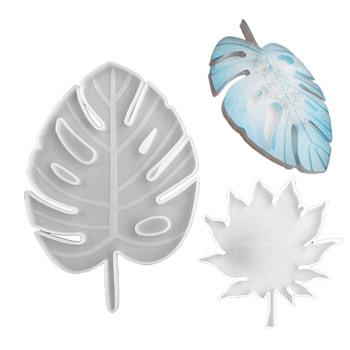 Nowy liść klonu formy silikonowe Palm epoksydowe formy żywiczne podkładka pod kubek Pad odlewania Coaster DIY podstawki formy narzędzia do tworzenia biżuterii tanie i dobre opinie CN (pochodzenie) Silicone