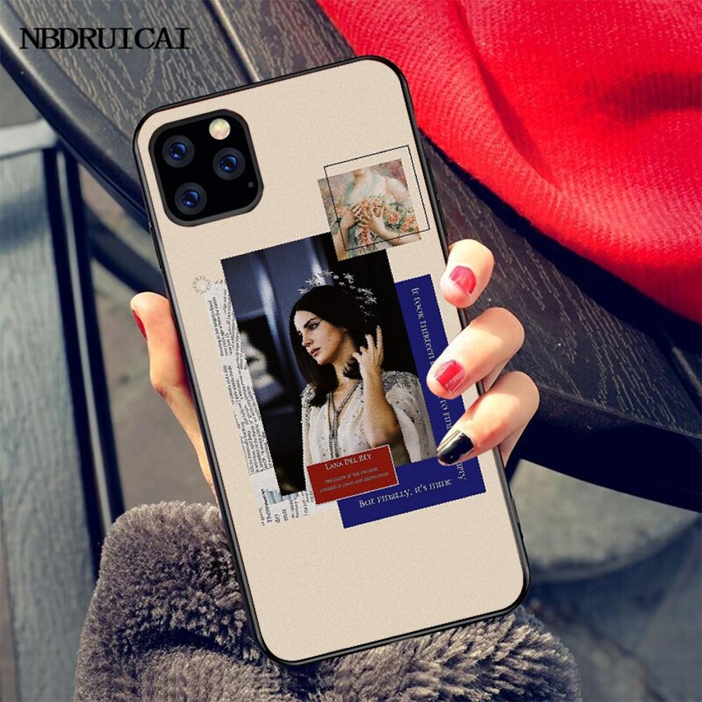 NBDRUICAI Эстетическая Лана Дель Рей красивая девушка Мягкий силиконовый чехол для телефона для iPhone 11 pro XS MAX 8 7 6 6S Plus X 5S SE XR чехол