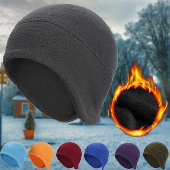 Zimowe ciepłe męskie czapki kolarskie narciarskie sportowe czapki zimowe wiatroszczelne zimowe Skullies czapki polarowe lekkie termiczne damskie czapki tanie i dobre opinie Dla dorosłych CN (pochodzenie) Poliester Unisex Stałe 237303 Na co dzień