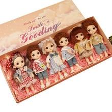 Poupée BJD de 16cm pour fille et garçon, modèle 13, jouet de mode articulé, pour le maquillage et la beauté, membres mobiles, idée anniversaire pour enfant, avec boîte cadeau,