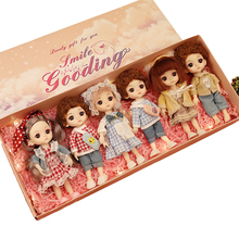 16CM BJD Dolls 13 Movable Jointed Girl Boy Toys With Gift Box Fashion Cute Make-up Toy BJD Beauty Doll For Birthday Gifts Set