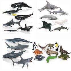 Моделирование Дельфин КИТ Акула, черепаха Осьминог океан море статуэтки животных игровой набор фигурка Коллекционная модель игрушки для д...