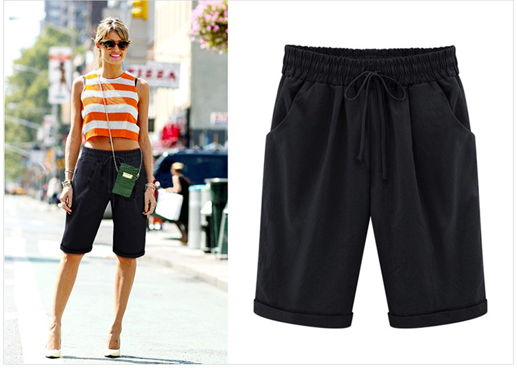 New Women's Summer Thin Cotton Non-Curly Loose Shorts Casual And Comfortable