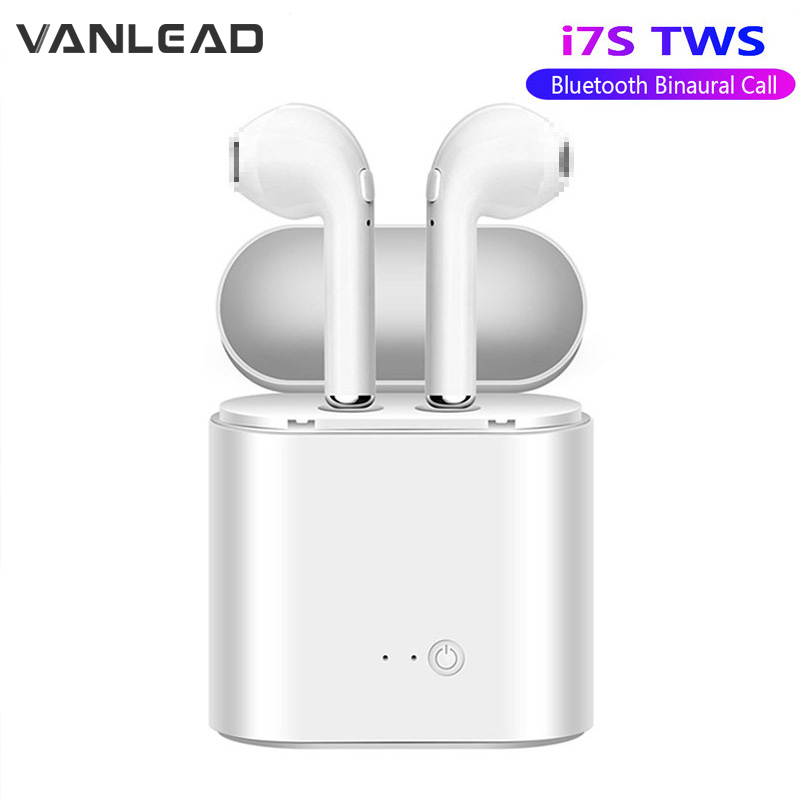 I7s TWS Bluetooth Earphone Stereo Earbud Wireless Bluetooth Earphones Sport Handsfree In-ear Headsets With Box For Xiaomi Phone