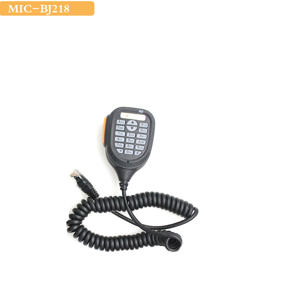Baojie BJ-218 Speaker Mic Microphone For Baojie BJ-218 25W Dual Band Mini Mobile Radio Car Two Way Radio Walkie Talkie