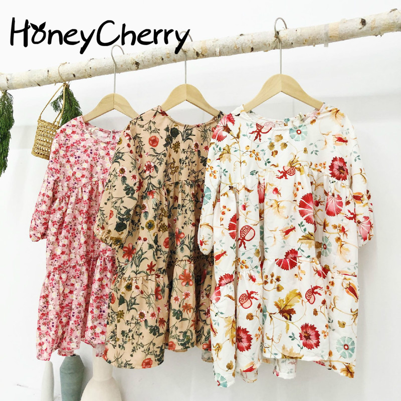Spring 2020 New Girl's Floral Chiffon Dress Baby Girl Dress  Baby Girl Clothes Girls Dresses For Party And Wedding