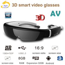 IVS-2 3D smart gläser VR headset alle-in-one video brille 98-zoll bildschirm mobile theater 8G speicher av-eingang HD film sehen