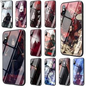 EWAU Madara Uchiha Naruto Tempered Glass phone case for iphone SE 2020 5 5s SE 6 6s 7 8 plus X XR XS 11 pro Max