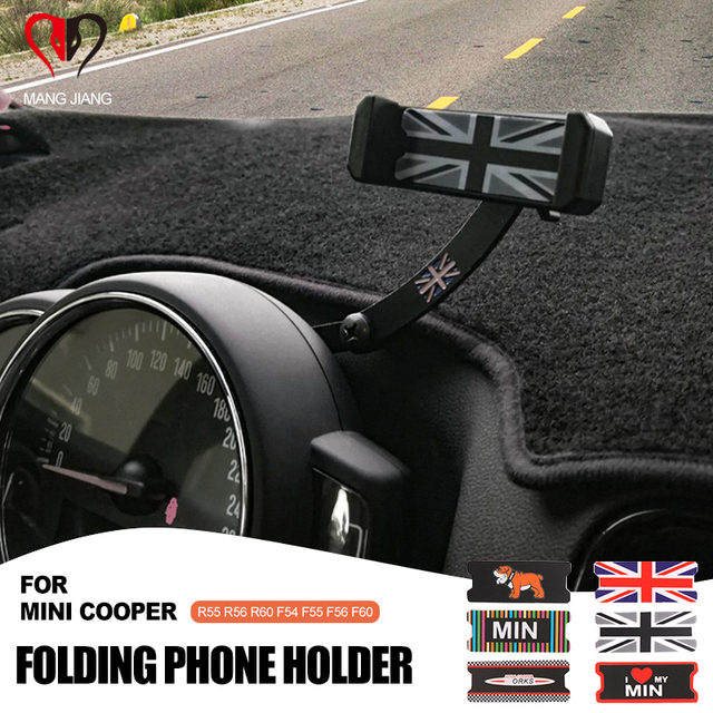 Auto Smartphone Cell Phone Holder Rotatable Clip Fold Mount Holder For mini cooper F55 F56 F54 R55 R6 R60 Countryman Clubman