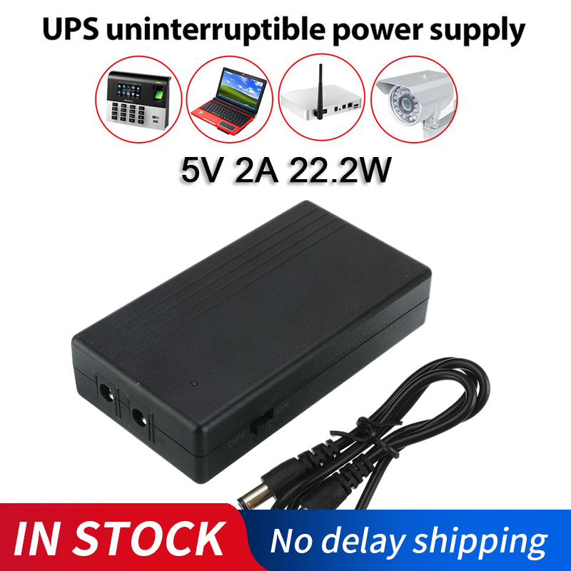 UPS Uninterrupted Power Supply 5V 2A 22.2W Alarm System Security Camera Dedicated Backup Power Supply For Camera Router