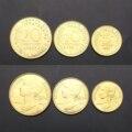 Набор из 3 французских монет, богиня риса, европейская оригинальная настоящая монета, Новинка