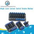 Релейный модуль постоянного тока 1, 2, 4, 8 каналов, 5 В, твердотельное высокоуровневое реле SSR AVR DSP стандартное реле для Arduino