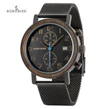 BOBO BIRD 2020 Wood Watches for Men Top Brand Luxury Quartz