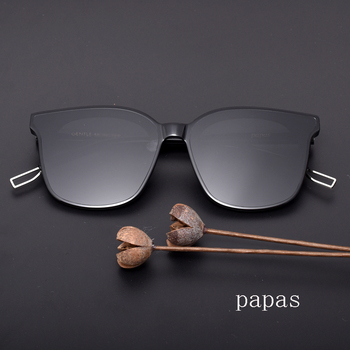 Gentle Papas men women Sunglasses Retro Square Sun Glasses  Men Women  Acetate Polarized UV400  Glasses With Original case 1
