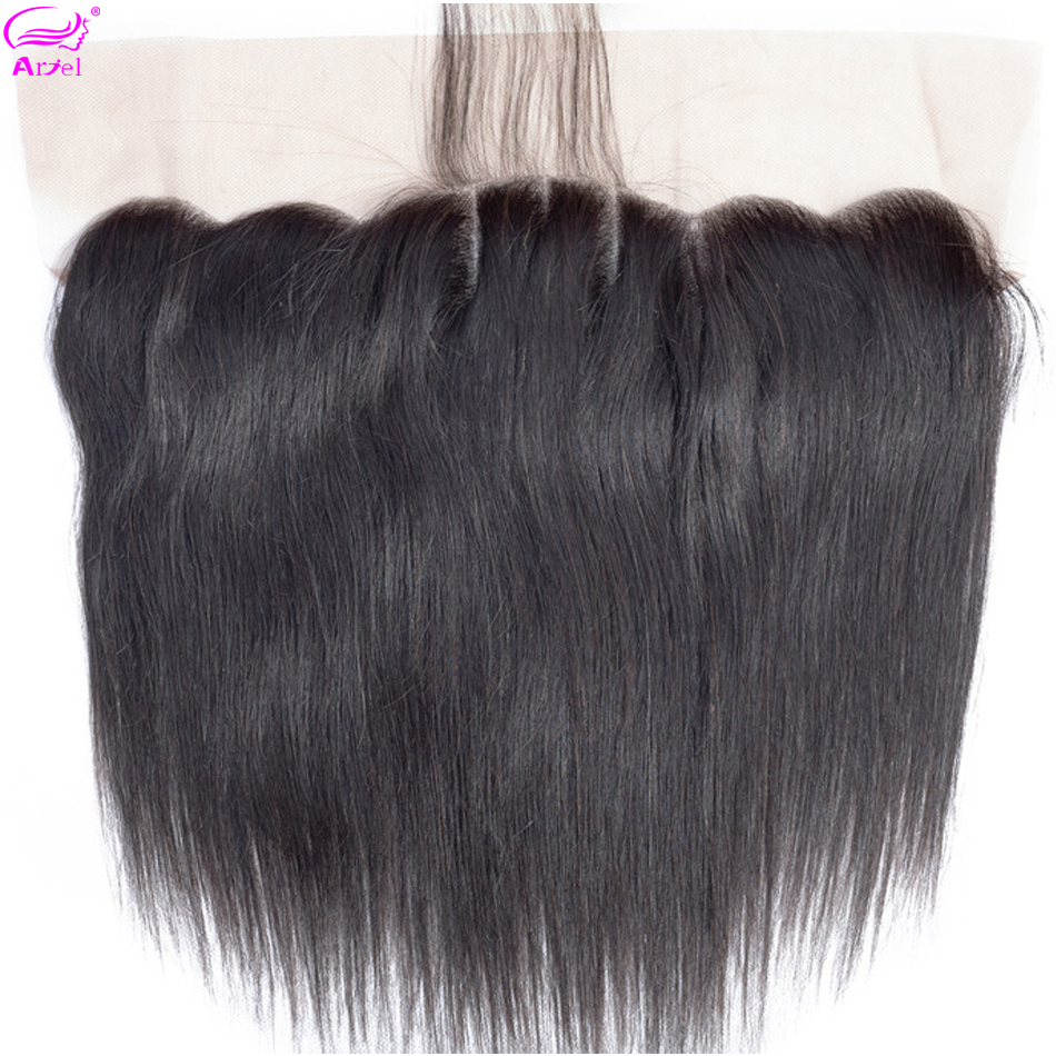 Ariel Straight Frontal 13*4 Lace Frontal Closure Human Hair Frontal Indian Remy Lace Frontal Middle Three Free Part Closures